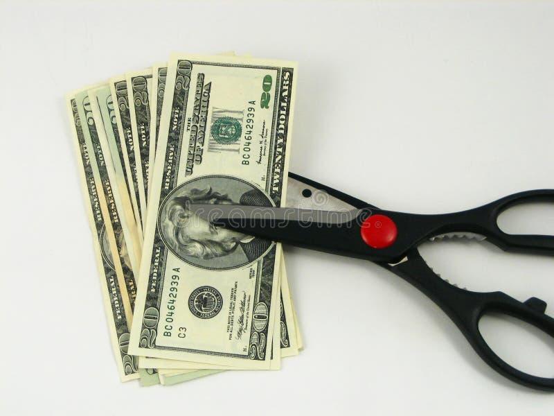 Besnoeiingen op de begroting en belastingen royalty-vrije stock fotografie