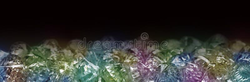 Besnoeiingsglas Crystal Jewels Banner royalty-vrije stock foto