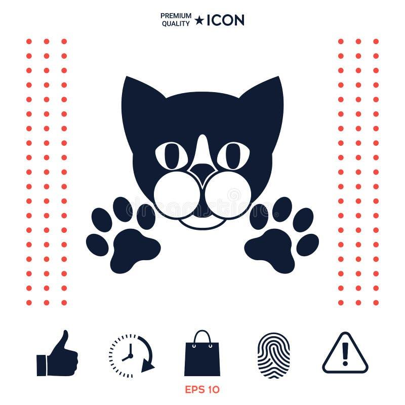 Besnoeiingskat met poten - het embleem, symbool, beschermt teken vector illustratie