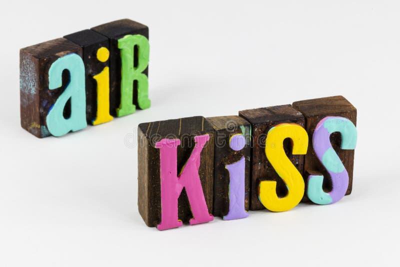 Beso aéreo romance virtual pasión emoción expresión amor foto de archivo libre de regalías