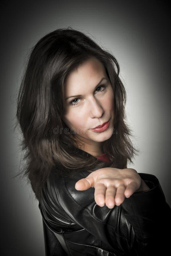 Beso bonito de la mano de la mujer imágenes de archivo libres de regalías