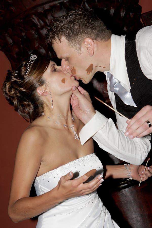 Beso de Choc foto de archivo
