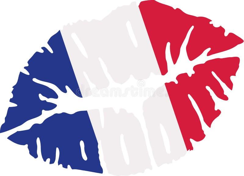 Beso de la bandera de Francia libre illustration