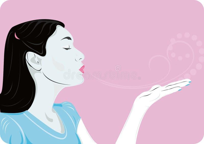 Beso del aire ilustración del vector