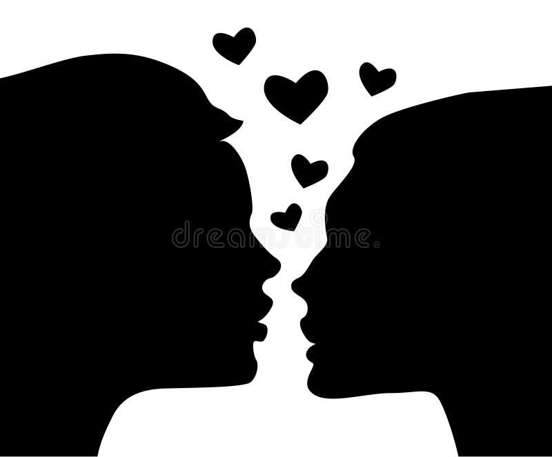 Beso del amor fotografía de archivo libre de regalías