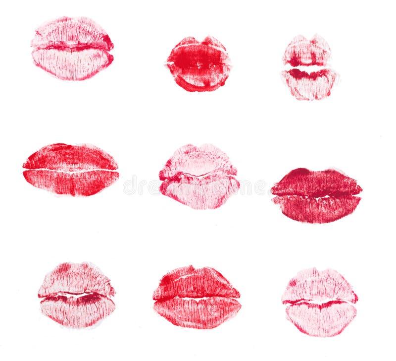 Beso del l?piz labial aislado en el fondo blanco imagen de archivo libre de regalías