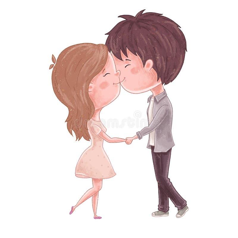 Beso lindo de los pares libre illustration
