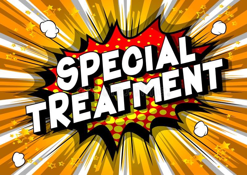 Besondere Behandlung - Comic-Buch-Artwörter lizenzfreie abbildung