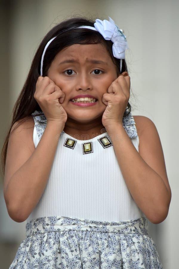 Besorgte jugendliche Minderheits-Person stockfotografie