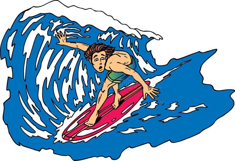 Besorgter Surfer stock abbildung