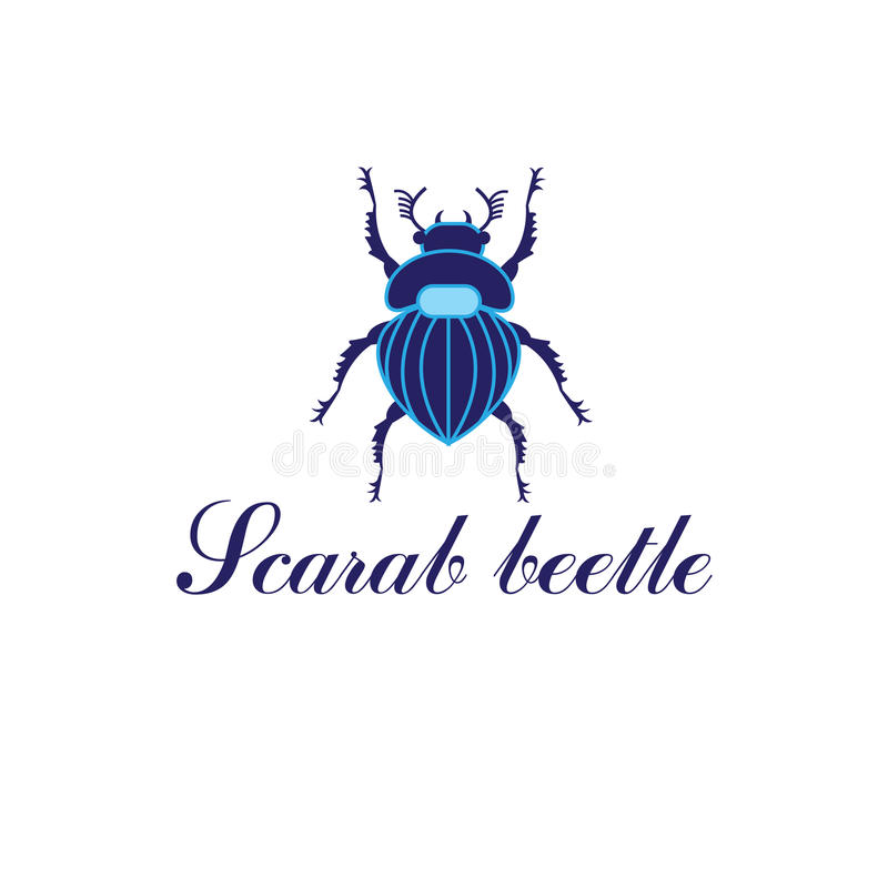 Besouro do escaravelho do vetor ilustração stock