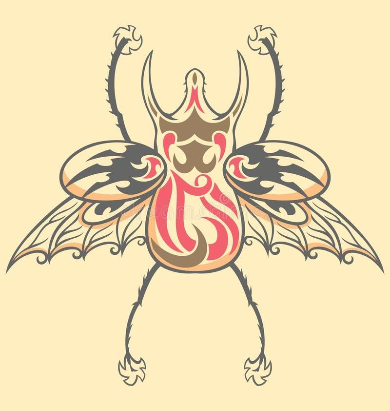 Download Besouro Do Tatuagem Do Vintage Ilustração do Vetor - Ilustração de tronco, animal: 10052974