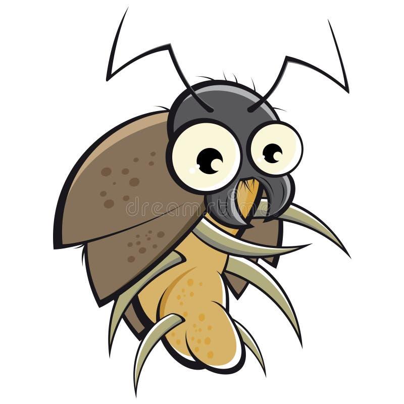 Besouro dos desenhos animados ilustração stock