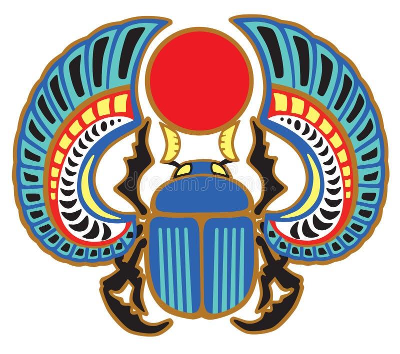 Besouro egípcio do escaravelho ilustração royalty free