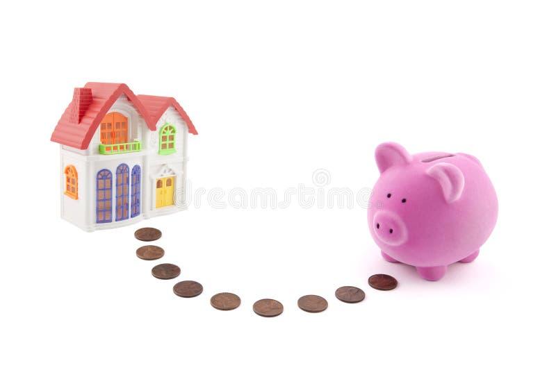 Besparing voor een huis stock afbeelding