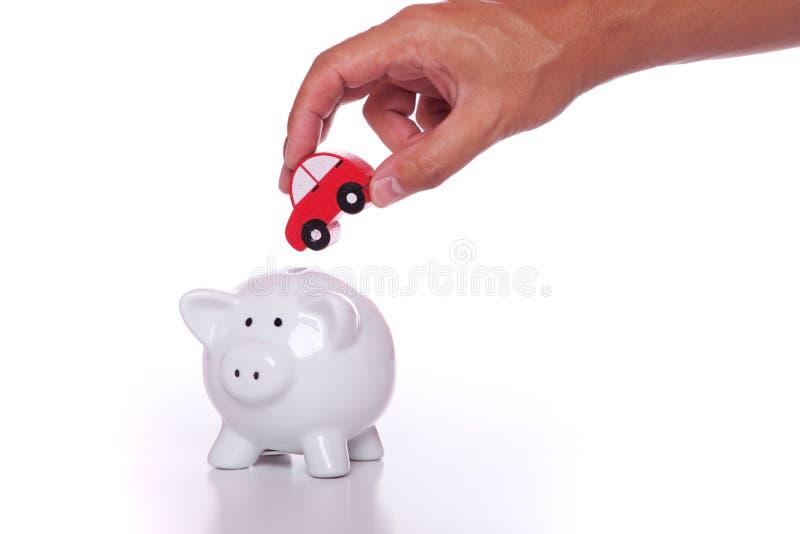 Besparing voor een nieuwe auto stock afbeeldingen