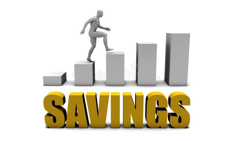 besparingar stock illustrationer