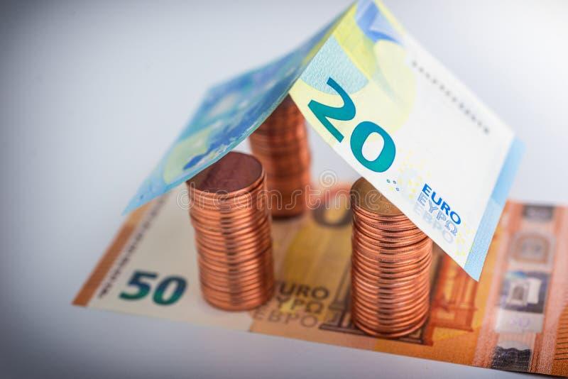 Besparingar för fastighetprojekt royaltyfri fotografi