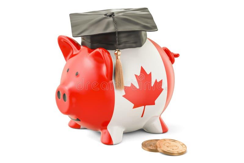 Besparingar för utbildning i det Kanada begreppet, tolkning 3D stock illustrationer