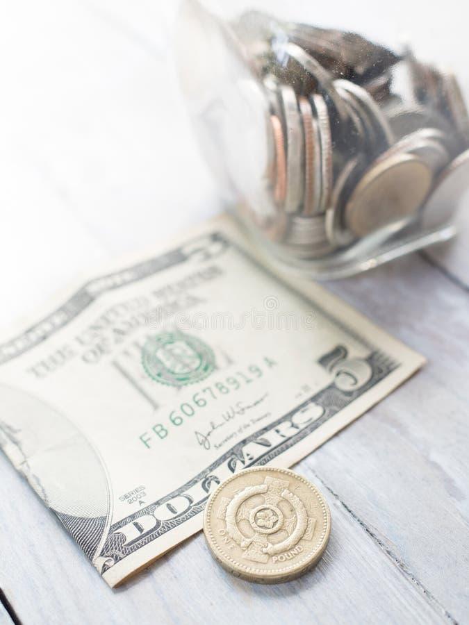 Besparingar inför framtiden och handel arkivfoto