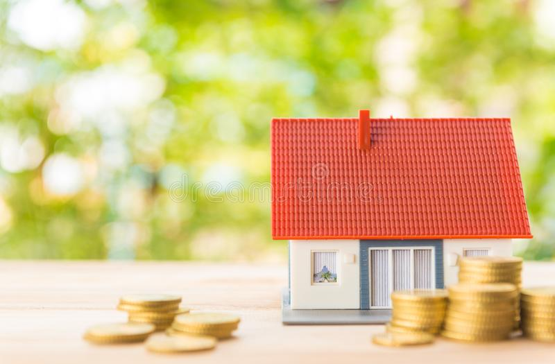 Besparingen voor huisvesting stock foto