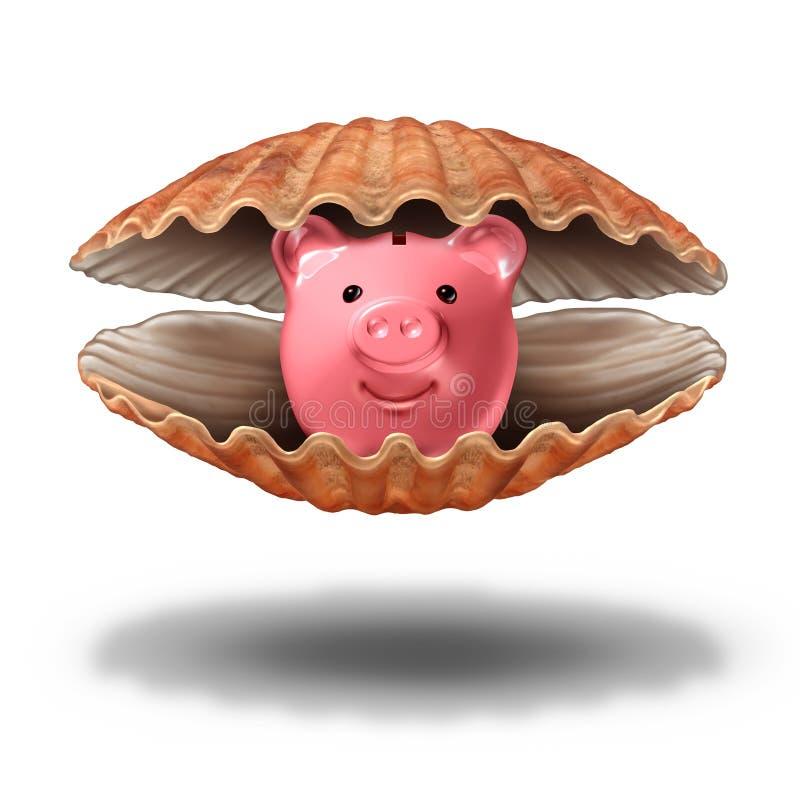 Besparingenschat stock illustratie
