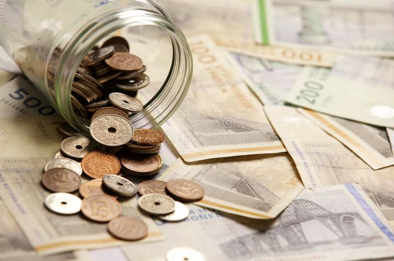 Besparingpengar inför framtiden arkivfoton