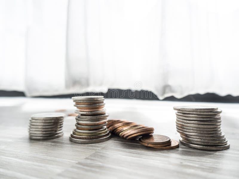 Besparingsgeld voor toekomstige investering stock afbeeldingen