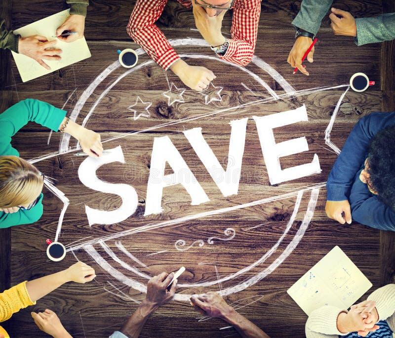 Besparingsrekening sparen het Fondsenconcept van het Financiëngeld royalty-vrije stock afbeelding