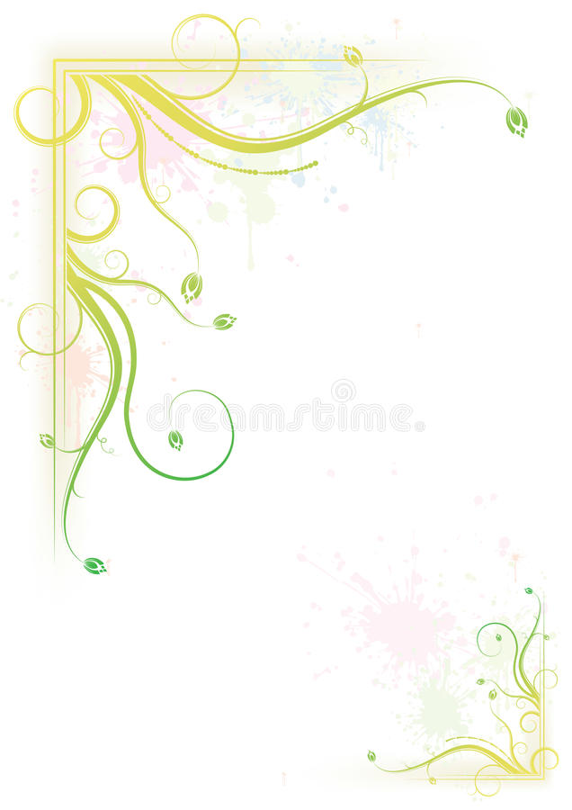 Bespattend kleurrijk bloemenframe vector illustratie