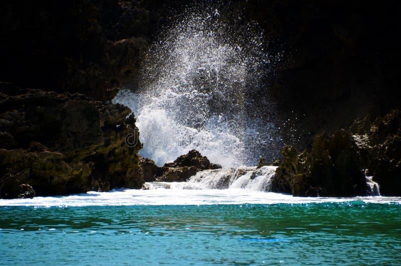 Bespattend water stock foto