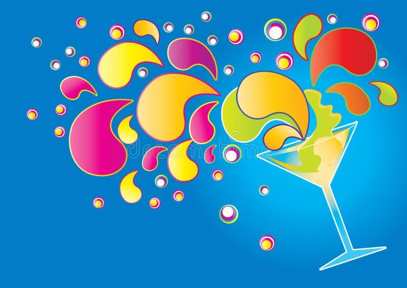 Bespattende cocktail stock illustratie