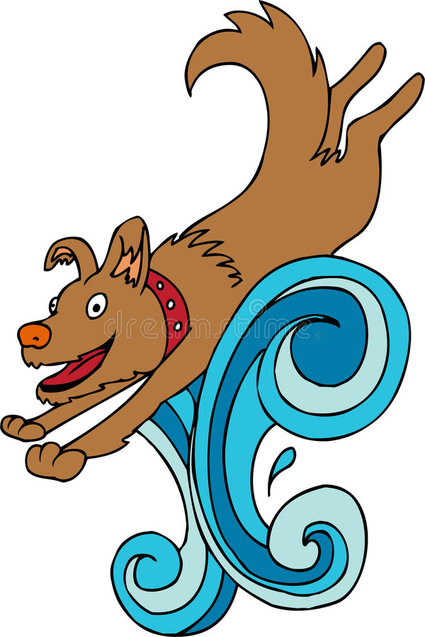 Bespattende Hond vector illustratie