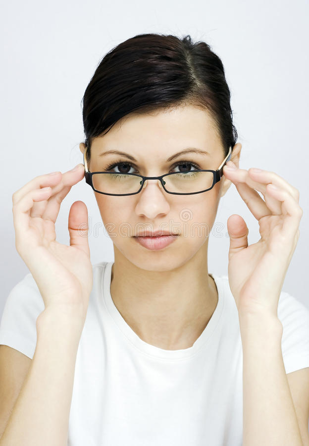 Download Business Woman With Glasses Stock Image - Image of optician, glasses: 29707515