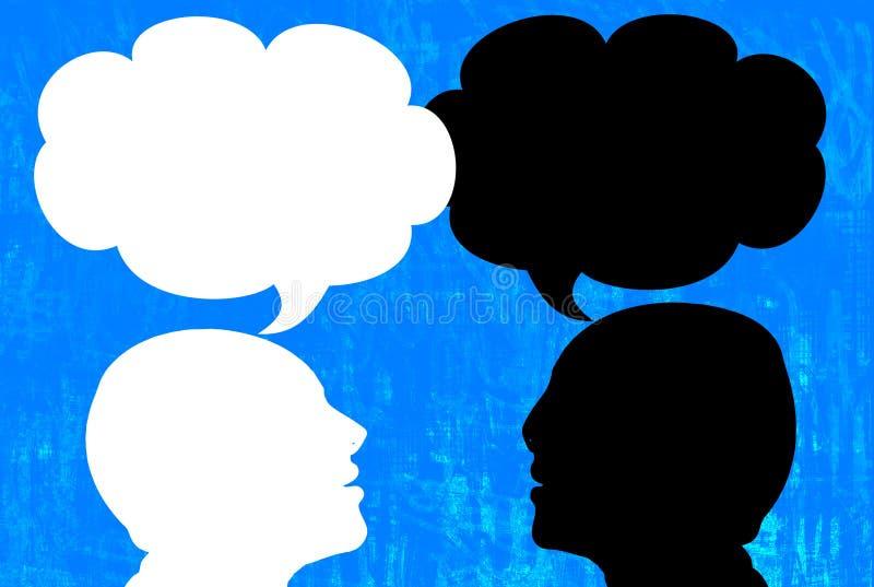 Bespreking (gesprek) royalty-vrije illustratie