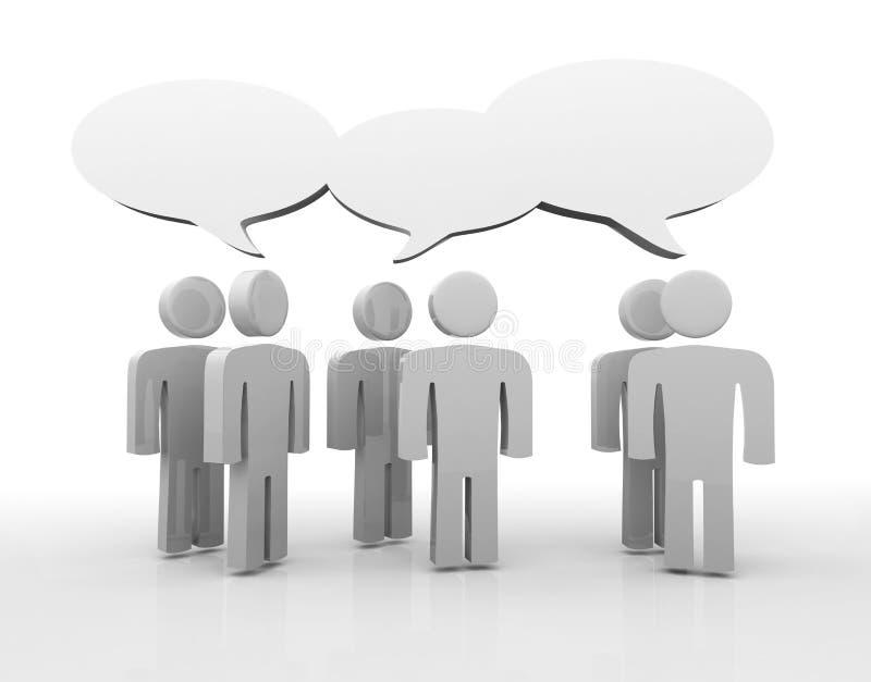 Bespreking, lege toespraakbellen stock illustratie