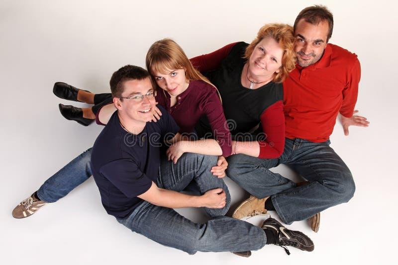 Bespreking over de vloer stock foto
