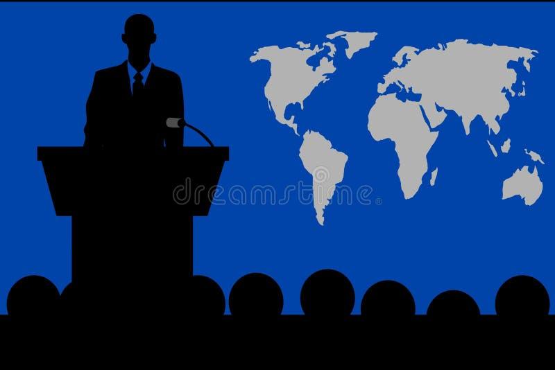 Bespreking van het Podium voor het Publiek royalty-vrije illustratie