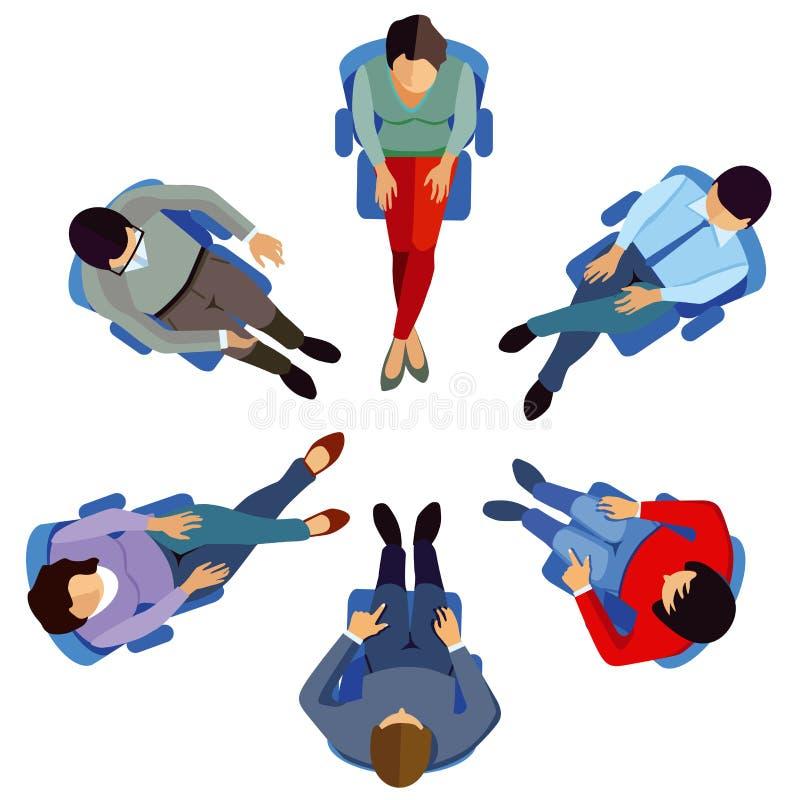 Besprekingsgroep vector illustratie