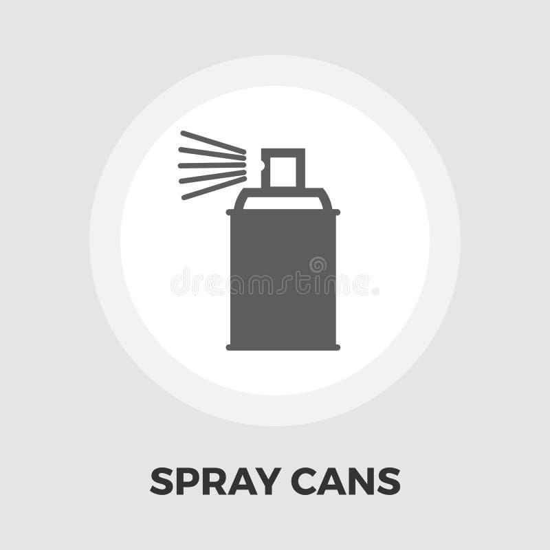 Bespruta med kemikaliesymbolslägenheten royaltyfri illustrationer