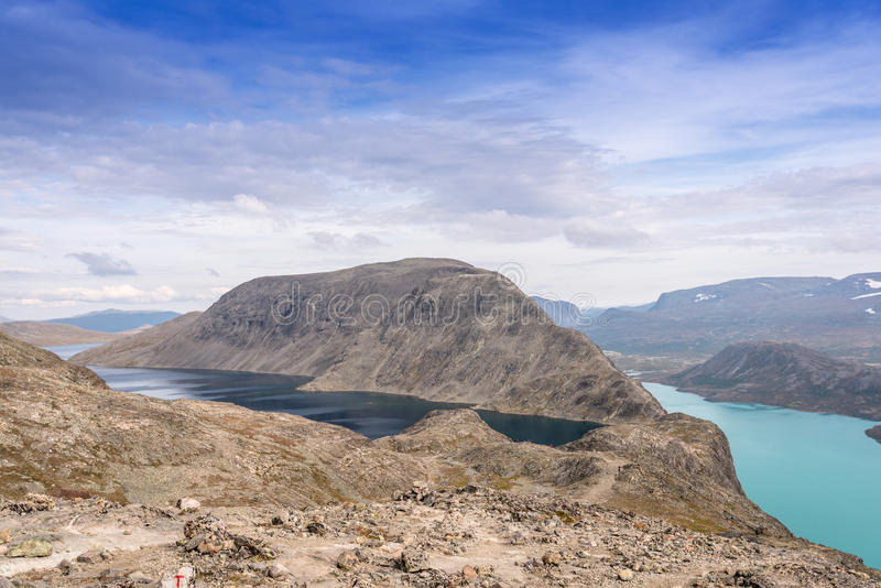 Besseggenrand bij het Nationale Park van Jotunheimen royalty-vrije stock foto's