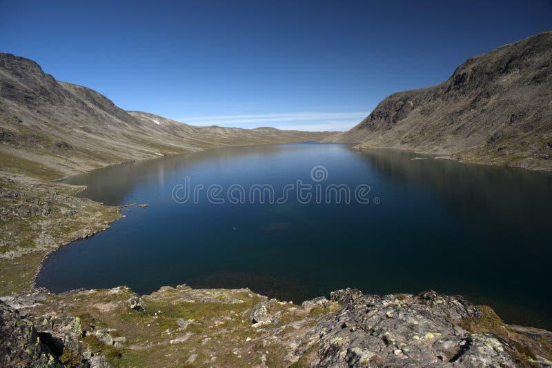 Besseggenrand in het Nationale Park van Jotunheimen stock afbeeldingen
