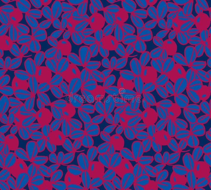 Bessen vector naadloos patroon als achtergrond stock illustratie