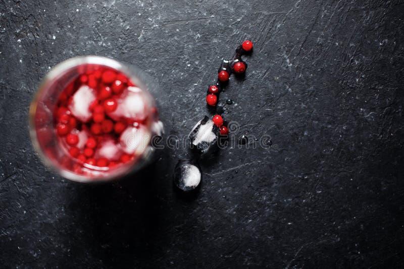 Bessendrank met ijs royalty-vrije stock afbeelding