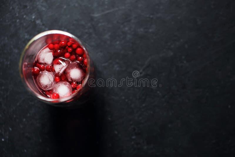 Bessendrank met ijs stock fotografie