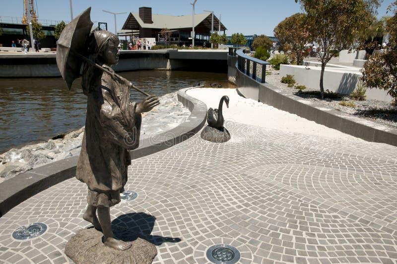 Bessie Rischbieth Public Statue - Perth - Australia stock images