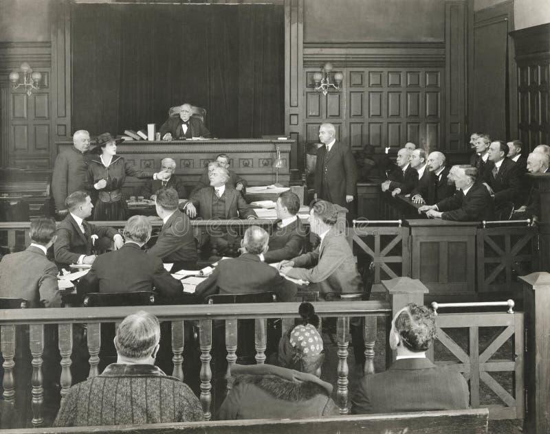 Beställning i domstolen royaltyfria bilder