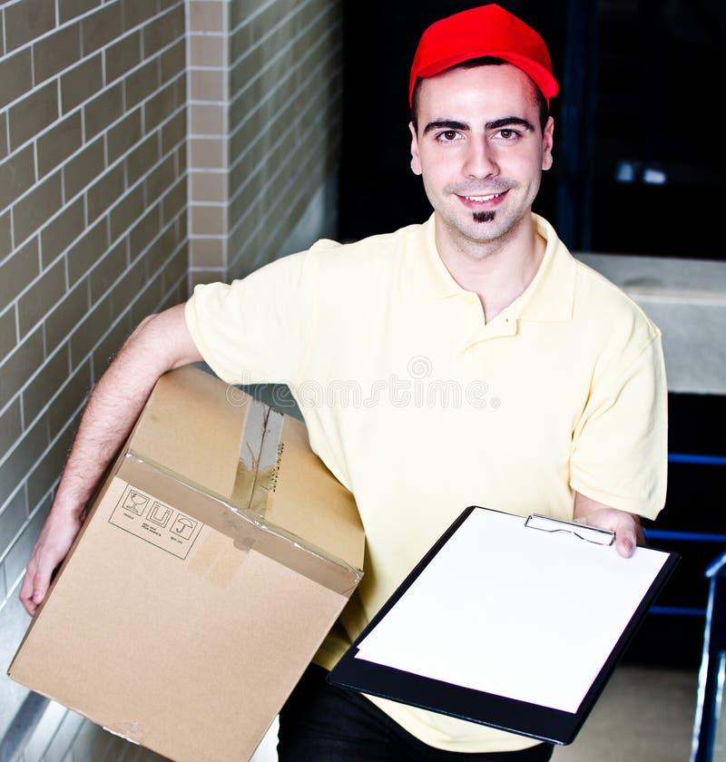 Bestätigen Sie Ihre Anlieferung stockfoto