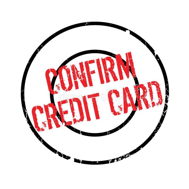 Bestätigen Sie Kreditkartestempel lizenzfreie abbildung