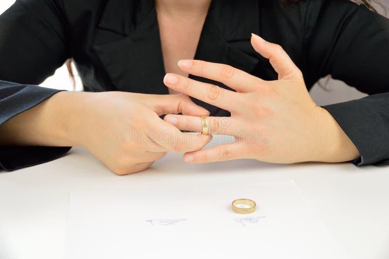 Bestätigung der Scheidung lizenzfreies stockfoto